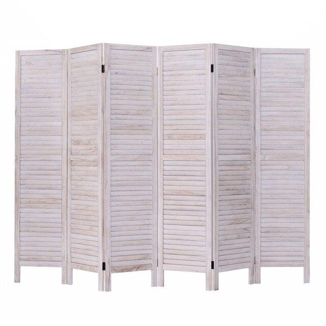 6 Panels Classic Venetian Wooden Slat Room Screen Traditional Chinese Room Screen Devider HW53906 - LikeRE Marketplace