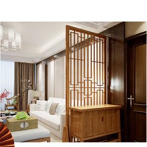 Solid wood screen partition office sitting room porch mobile screen Chinese style screen can be customized living room divider