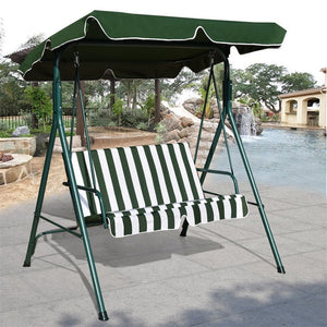 Loveseat Patio Canopy Swing Glider Hammock Cushioned Steel Frame Bench Outdoor Patio Swing Garden Furniture OP3102