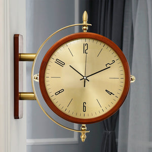Luxury Wall Clock Fashion Large Living Room Double Sided Round Wall Clock Creative Modern Oclock Zegar Home Decor XX60WC