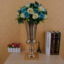 Load image into Gallery viewer, 43CM Large Stunning Gold Iron Luxury Flower Vase Wedding Table Floral Arrangement Eucalyptus Foliage Vase Wedding Reception Deco - LikeRE Marketplace