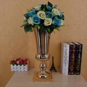 43CM Large Stunning Gold Iron Luxury Flower Vase Wedding Table Floral Arrangement Eucalyptus Foliage Vase Wedding Reception Deco - LikeRE Marketplace