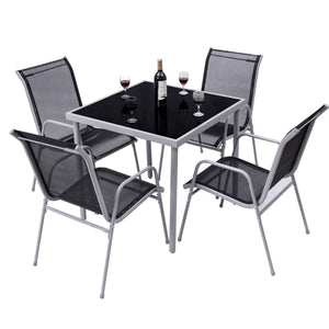 Costway 5 PCS Bistro Set Garden Set of Chairs and Table Outdoor Patio Furniture - LikeRE Marketplace
