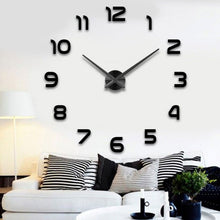 Load image into Gallery viewer, Fashion 3D big size wall clock mirror sticker DIY brief living room decor meetting room wall clock