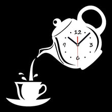 Load image into Gallery viewer, Creative DIY 3D Wall Clock Acrylic Coffee Cup Teapot Decorative Kitchen Wall Clocks Living Room Dining Room Home Decor Clock