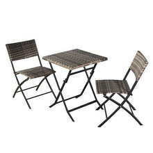 Load image into Gallery viewer, 1 set folding rattan chair with table Portable Camping Chairs Folding Outdoor garden Chair Home Furniture - LikeRE Marketplace