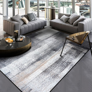 Fashion Carpets For Living Room Simple Modern Abstract Rugs Chinese Sofa Coffee Table Rugs Ink Black Gray Bedroom Floor Mat