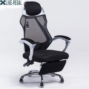 Mesh back office chair swivel function gas lift height adjustment base stainless steel with wheels