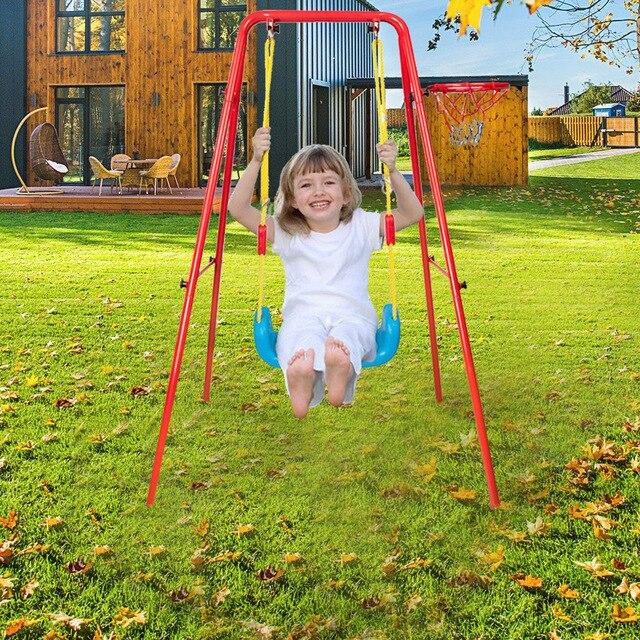 40 In Saucer Swing chair outdoor indoor children Safety Swing home fitness baby hanging chair belt jumping baby hammock cradle - LikeRE Marketplace
