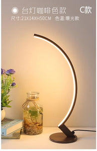Modern minimalist creative personality brown, white LED floor lamp stand lamp living room bedroom lamp study street lamp