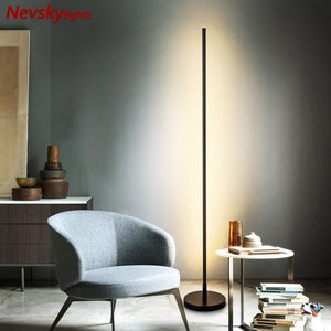 Minimalist floor lamp bedside modern led floor light for living room led table lamps bedroom led fixtures table lamps kids room