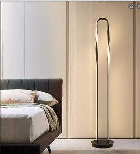 Nordic modern creative black lamp body eye protection led floor lamp, applied to living room bedroom room vertical bedside lamp