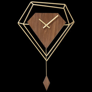 Large Pendulum Wall Clock Metal Geometric Creative Gold Watch Wall Nordic Living Room Pendule Mural Home Industrial Decor ZB5WC
