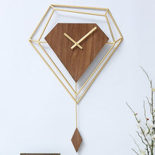 Load image into Gallery viewer, Large Pendulum Wall Clock Metal Geometric Creative Gold Watch Wall Nordic Living Room Pendule Mural Home Industrial Decor ZB5WC