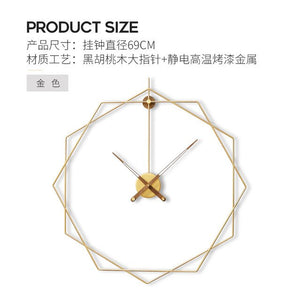 Luxury Minimalist Wall Clock Gold Large Modern Creative Metal Clocks Wall Living Room Nordic Horloge Mural Home Decor ZB5WC