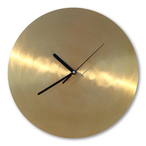 Creative Nordic Wall Clock Luxury Silent Metal Minimalist Vintage Wall Clock Copper Quartz Horloge Home Decoration AA50WC