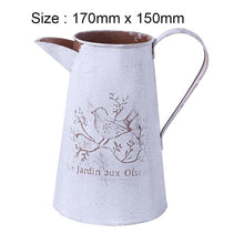 Load image into Gallery viewer, Retro Flowerpot Galvanized Iron Flowerpot Decoration Planter European Style Antique Finish Garden Flower Pot Planting Tool