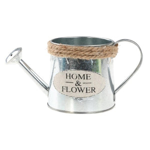 Retro Flowerpot Galvanized Iron Flowerpot Decoration Planter European Style Antique Finish Garden Flower Pot Planting Tool