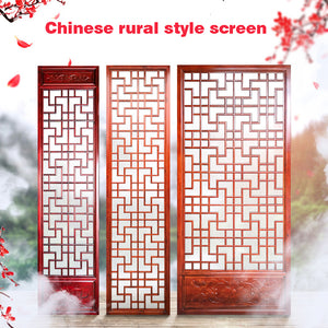 New Chinese solid wood screen living room partition screen cabinet hollow out board carvings porch