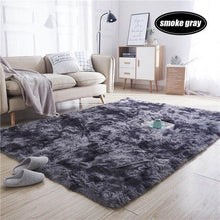 Load image into Gallery viewer, 7 Colors Carpet Tie Dyeing Plush Soft Carpets For Living Room Bedroom Anti-slip Floor Mats Bedroom Water Absorption Carpet Rugs - LikeRE Marketplace