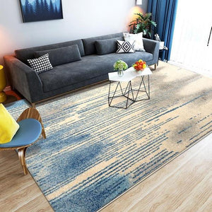 Mediterranean Living Room Carpet Home Decoration Carpet Bedroom Sofa Foot Pad Study Thickened Polypropylene Floor Mats - LikeRE Marketplace