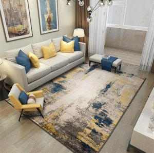 American Abstract Rug Living Room Household Floor Mat Sofa Coffee Table Floor Mat Thickened Polypropylene Floor Mat and Carpet - LikeRE Marketplace