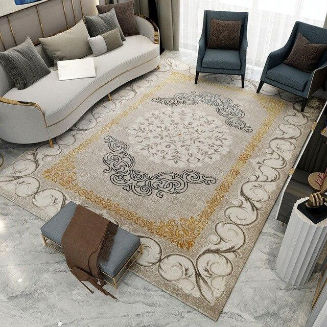 American luxury living room carpet bedroom floor mat modern design sofa table floor coffee door mat study floor mat and rug - LikeRE Marketplace