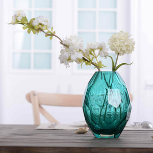 CASAMOTION Vase Hand Polishing Home Art Decoration Vase for Room Decals Glass Vase Hand-blown Vintage Elegant Flower Vase - LikeRE Marketplace