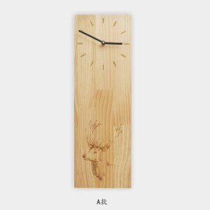 Japanese-style Natural Wooden Oak Rectangle Clock Home Tea Room Decoration Crafts Sculpture Art Pattern Needle Quartz Wall Clock