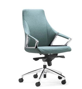 High back reclining boss chair leather executive chair aluminum alloy armrest high-grade office chair.