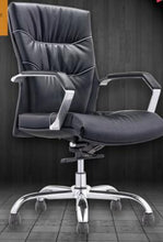 Load image into Gallery viewer, White leather boss chair. Computer chair swivel office ergonomic .69