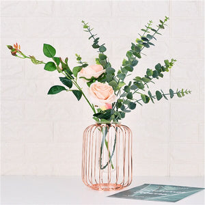 Nordic Style Art Wire Vases Flowerpot Wedding Home Decoration Accessories For Living Room Nordic Minimalist Flower Shelf z0408#G