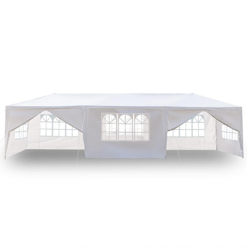 10'x30' White Event Tent Party Canopy Wedding Tent Outdoor Gazebo Pop Up Pavilion Upgrade 8 Walls Spiral Tube Canopy - US Stock - LikeRE Marketplace