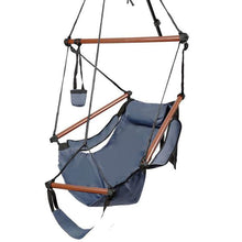 Load image into Gallery viewer, Portable 4 Colors Hammock Rope Chair Well-equipped S-shaped Hook High Strength Assembled Hanging Seat Cacolet for Yard
