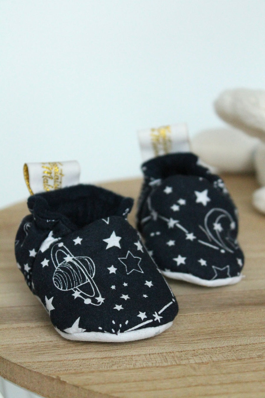 Chaussons souples bébé Back to space