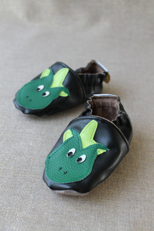 Chaussons simili cuir souples Dragon