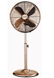 Goldair 40cm Copper Pedestal Free Standing 4 Blade Fan- Lightweight Modern Design, Height Adjustable Stand, Sturdy Round Base, 4 High Quality Aluminium Soft Blades, Metal Construction, Circular Guard Mesh Grill , 3 Speed Velocity Settings, 50w Silent Moto - Gazoomba