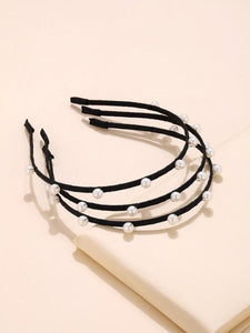 Rawbar Hair Hoop black with pearls