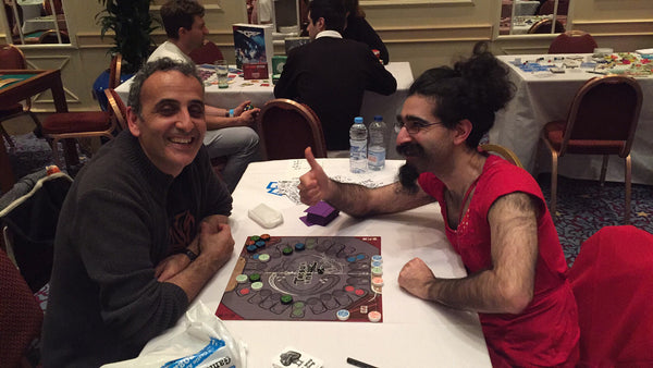 Bez and John from Gen42 at TableTop Day with Rules of Play