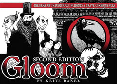 Gloom card game for students and sickos.
