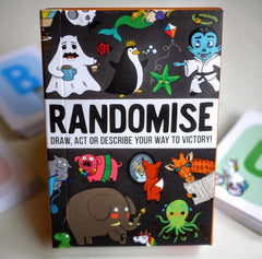 Randomise card game for travelling holidays