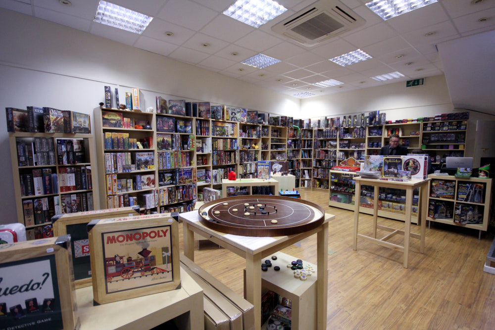 Rules of Play board game shop in Cardiff - inside store