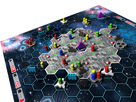 Survive Space Attack! game board