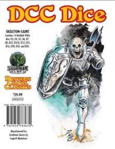 Skeleton Saint Dice: Dungeon Crawl Classics RPG