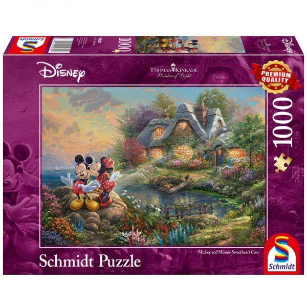 Thomas Kinkade: Disney Mickey & Minnie Sweetheart Cove (1000pc)