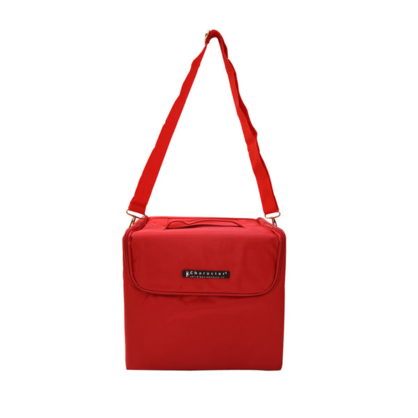 Makeup  Tote Bag with train case - CBBS003 RED