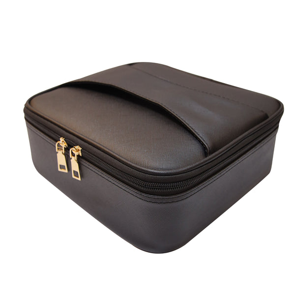 Makeup Bag with fixed compartments- YFV19049 BLACK
