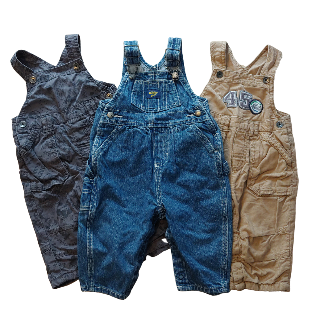 Boys  Size 6-9 MONTHS 3pc Overall Bundle