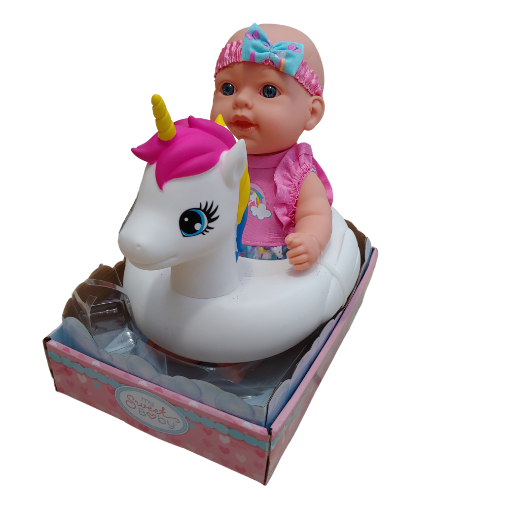 My Sweet Baby - Baby Doll with Unicorn Bath Floatie