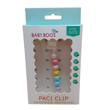 Load image into Gallery viewer, Baby Boos Paci Clip - rainbow